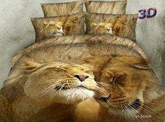 Lion animal print love bedding set queen size bedspread duvet cover bed in a bag sheet fashion quilt linen cotton Cheap Bedding Sets, Cotton Bedding Sets, Bed Linen Sets, Cotton Duvet, Queen Size Bedspread, Queen Bedding Sets, Comforter Sets, Queen Size Bed Covers, Lion Couple