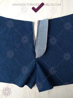Cómo coser la cremallera para jean – Nocturno Design Blog Design Blog, Stitches, Bb, Projects To Try, Sewing, Bikinis, Pattern, Tejidos, Kids Fashion