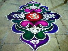 Rangoli Designs Latest, Rangoli Designs Flower, Rangoli Border Designs, Rangoli Ideas, Colorful Rangoli Designs, Rangoli Designs Diwali, Diwali Rangoli, Flower Rangoli, Beautiful Rangoli Designs