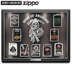 Sons Of Anarchy The First 9 Zippo Lighter Collection