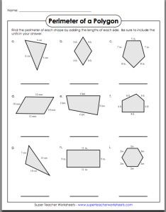 Area & Perimeter Worksheets - common core sheets | Geometry and ...