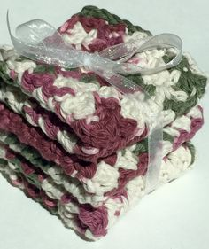 READY TO SHIP  Hostess Gift spa wash cloth set 100% by LilyGiggles