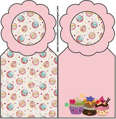 Cupcakes Fofinhos – Kit Completo com molduras para convites, rótulos para guloseimas, lembrancinhas e imagens! |Fazendo a Nossa Festa Party Sweets, Cake Logo, Ideas Para Fiestas, Baby Shower, Kids Rugs, Thankful, Home Decor, Cupcakes, Template