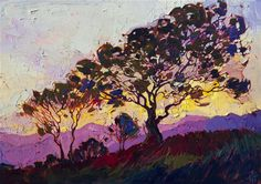 Mosaic Dawn, original oil painting for sale in a modern impressionist style, by Erin Hanson