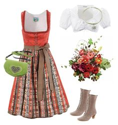 Oktoberfest 2016, outfit autumn colours by juliainuk on Polyvore featuring Andrea Conti