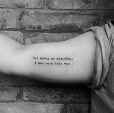 'God makes no mistakes I was born this way' by Fabiana Ventura