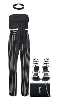 """Untitled #3990"" by rhe7971 ❤ liked on Polyvore featuring Haider Ackermann, TIBI, Rene, Yves Saint Laurent and Express"