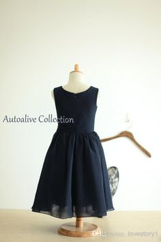 Free shipping, $39.61/Piece:buy wholesale Navy Blue chiffon Flower Girl Dress Infant Toddler PAGEANT Bridal Party Dress with Flower birthday party dress from DHgate.com,get worldwide delivery and buyer protection service.