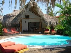 Romantic caribbean villa with pool, tropical garden, 60 meters from the beach