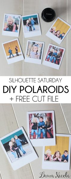 Silhouette Saturday: DIY Polaroids + Free Cut File | bydawnnicole.com