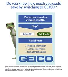 Geico Free Quote Geico Insurance  Advertisement  Pinterest