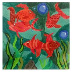 Schülerarbeit - Aquarium -->Farbmodulation - Farbabstufung