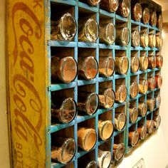 DIY Mason Jar Storage - Coke Crate Spice Rack - Click Pic for 44 Easy Organization Ideas for the Home