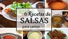 6 Recetas de salsas para carnes