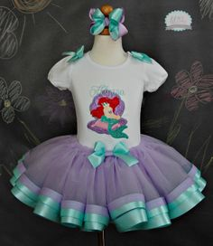 Ariel Little Mermaid Tutu SetIncludes Top Tutu by lilabbehandmade, $79.99