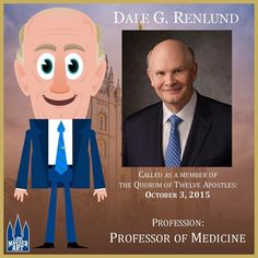 Elder Dale G. Renlund was named an Apostle of The Church of Jesus Christ of Latter-day Saints on October 3, 2015.  .  .  #ElderRenlund #ldsconf #lds #mormon #LDS #JesusChrist #Christian #quote #efy #sharegoodness