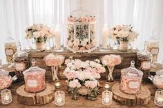 Image result for candy bar wedding rustic pink
