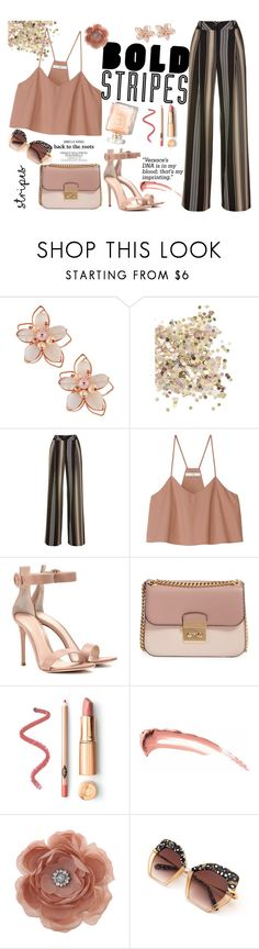 """Untitled #497"" by kat-van-d on Polyvore featuring NAKAMOL, Topshop, TIBI, Gianvito Rossi, MICHAEL Michael Kors, Miss Selfridge and stripedpants"