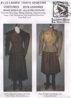 LM110  Laughing Moon 110 Ladies' 1890's by oldtimepatterns on Etsy, $18.00