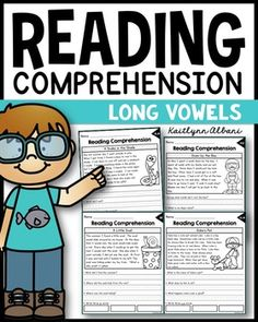 Inside you will find 18 long vowel reading passages. Each page includes a title, short passage, clip art, long vowel sound reminder, 3 reading response questions and 3 boxes to write words from the passage! Early Reading, Free Reading, Reading Games, Reading Activities, Short Passage, Fluency Practice, Text Evidence, Reading Comprehension Passages, Long Vowels