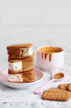 Caramel Ice Cream Sandwiches