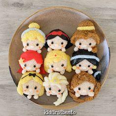 Disney princesses by Kidfirst Bento (@kidfirstbento)