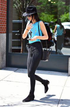 Kendall Jenner leaving Kanye's Apartment in New York City on June 17, 2015.