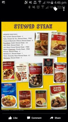 Steak bakes Slimming World Syns List, Slimming World Survival, Slimming World Free, Slimming World Dinners, Slimming World Recipes, Healthy Cooking, Cooking Recipes, Healthy Eating, Slimmimg World