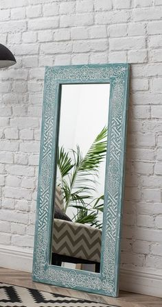We created this design from scratch by combining traditional geometric graphics with an intricate pattern of tropical flowers. This rare combination turns the mirror into almost a magical item inspiring the feeling of intimacy with nature and the world around us. Entry Mirror, Mirror Work, Floor Mirror, Chip Carving, Tree Carving, Wall Mirrors India, Rustic Bathroom Mirrors, Moroccan Mirror, Traditional Mirrors