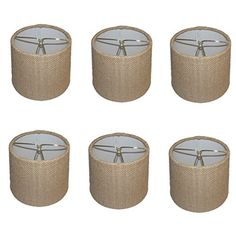 Upgradelights® Set of Six European Drum Style Chandelier Lamp Shade Mini Shade Natural Burlap Fabric Upgradelights http://www.amazon.com/dp/B00E253T8E/ref=cm_sw_r_pi_dp_tnAfwb02VZAMJ