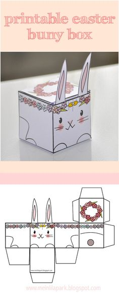 Easy easter tabletop crafts 12 eggscellent cut make decorations free printable easter bunny box template negle Images