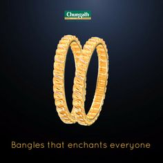 Gold bangles designs to enhance your style Shop Now : https://www.chungathjewellery.com/gold/bangles