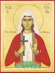 The Holy Virgin Martyr Helen from Sinopi of Pontos This is a faith-filled message in defense of chastity in the . Saint Helens, St G, Byzantine Art, Religious Images, Holy Mary, Orthodox Icons, Sunday School, Holi, Christianity