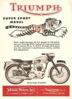 STRANDED KOSMONAUT: Vintage Triumph Motorcycle Ads