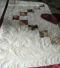 detailquiltingtoni by Carla's Feathered Fibers, via Flickr