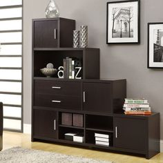 Have to have it. Monarch Hollow-Core Left or Right Facing Step Bookcase - Cappuccino $390.99