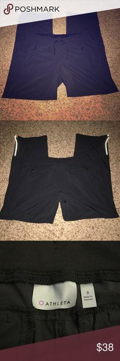 Athleta Jogger Pants Versatile, great for running errands or gym work. Has four functional pockets and reflective detailing. Bundles and offers welcome!! Thank you for looking! Athleta Pants Track Pants & Joggers