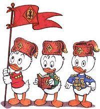 Ankanpojat Tupu, Hupu ja Lupu Järjestyksessä vasemmalta oikealle: Lupu, Hupu ja Tupu Ensiesiintyminen: 17. lokakuuta 1937