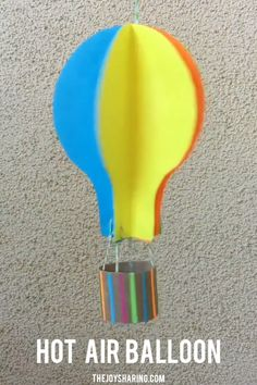Hot Air Balloon Paper Craft for Kids Fun balloon paper craft for kids to make and play with this summer. Grab the tutorial on our website. The post Hot Air Balloon Paper Craft for Kids appeared first on Pink Unicorn. Sea Crafts, Paper Crafts For Kids, Crafts For Kids To Make, Preschool Crafts, Diy Paper, Art For Kids, Arts And Crafts, Paper Art, Kids Fun