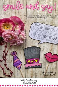 Time to spread the love and celebrate Valentine's Day with your speechie love bugs! This low prep craftivity is perfect to use to target articulation, phonology and language.  This set includes: This resource includes 204 pages with articulation, phonology and language targets. Great for individual, small group or mixed group. #speechtherapyactivity #phonologyactivity #languageactivity #lowprepspeechtherapy Articulation Activities, Speech Therapy Activities, Language Activities, Articulation Therapy, Preschool Speech Therapy, Speech Therapy Games, Valentines Photo Booth, Play Therapy Techniques, Speech Room