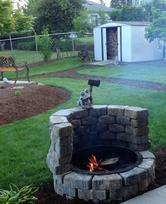 Simple home fire pit