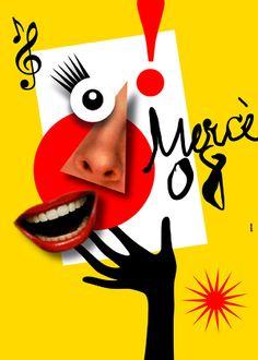 Cartell de la Mercè 2008. Disseny de Pere Torrent.