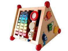 [I'm Toy アイムトイ] 指先レッスンボックス 出産祝いにも人気の木製知育のおもちゃ。12種類もの指先レッスンができる欲張りな木のおもちゃです。