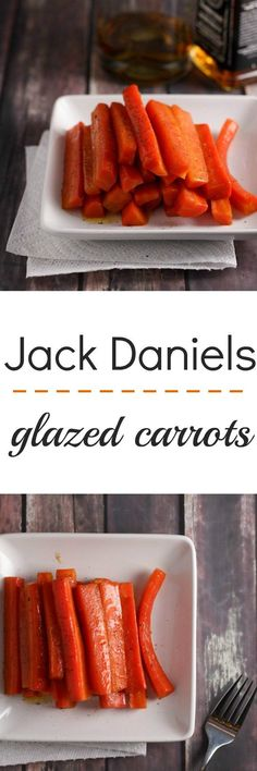 Slightly boozy, and very yummy, Jack Daniels glazed carrots. This recipe is a delicious side for dinner!