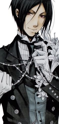 "Sebastian Michaelis, from ""Black Butler"". Handsome devil. :P"