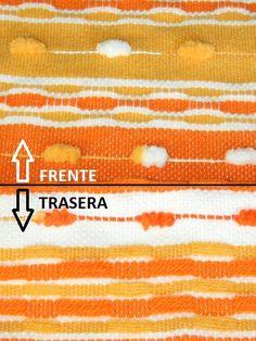 "Telaradas: Tutorial para tejer ""nido de abeja"" Weaving Art, Lana, Poli, Movie Posters, Arch, Scarf Knots, Yarns, How To Knit, Bees"