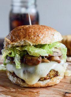 Crispy Autumn Veg Burgers with Apple Cider Slaw | howsweeteats.com