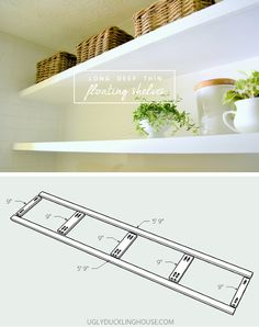 long deep thin sturdy floating shelves plans