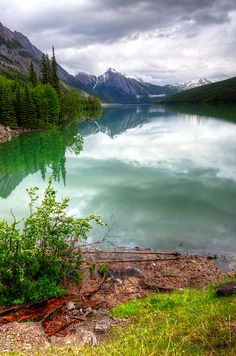 Medicine Lake, Jasper National Park by D-Niev, via Flickr; Alberta, Canada