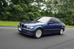2003 325i Sedan - Mystic Blue Metallic - The car with which my BMW love story began...(in motion)